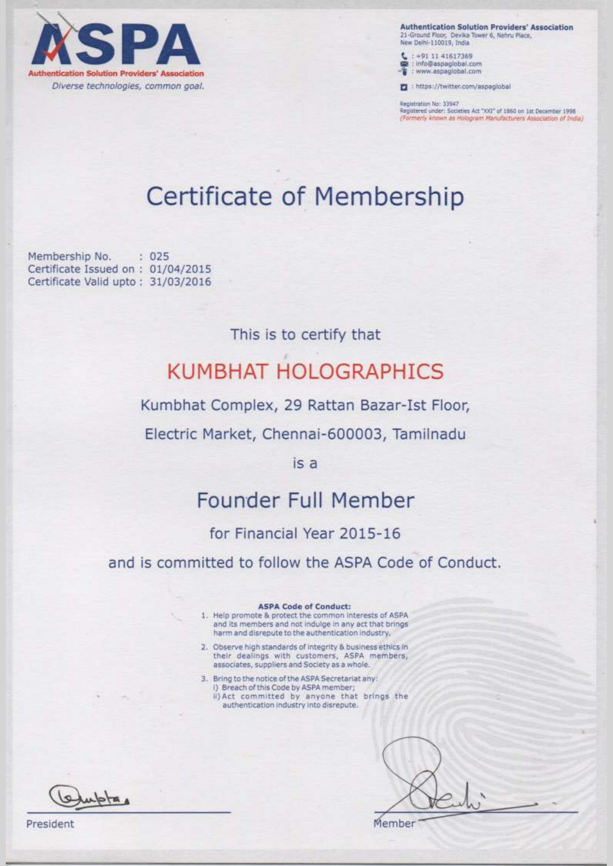 certificate hologram