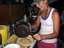 Jessica makes banana pie