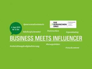 "Flyer ""Business meets Influencer"" (Bild: BLTM Bergisch Land Tourismus Marketing e.V.)"