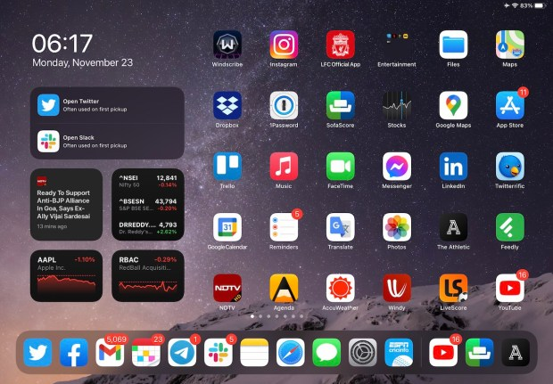 Ipad air 4 screenshot