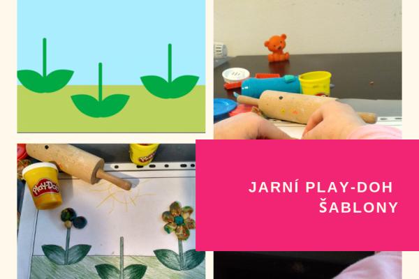 Jarní Play-Doh šablony kdozdobení