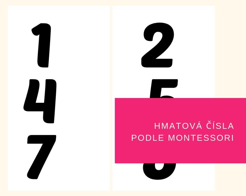 Hmatová čísla podle Montessori