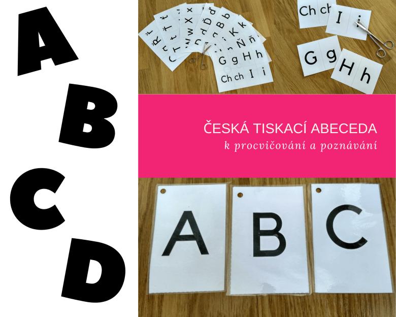 Česká tiskací abeceda kprocvičování a poznávání