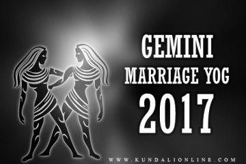 Marriage horoscope for gemini in 2017