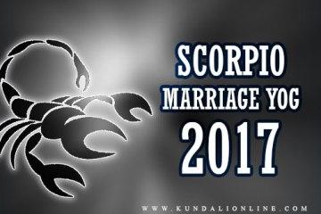 marriage horoscope for Scorpio in 2017