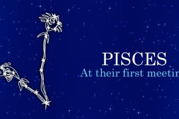 Pisces at their first meeting