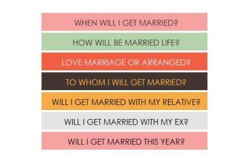 Marriage Prediction Question List