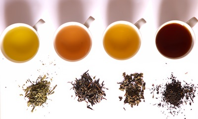 Tea in different grade of fermentation