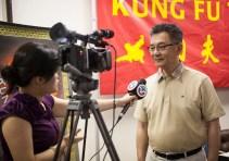 City of San Jose Councilmember Kansen Chu television interview.
