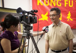 City of San Jose Councilmember Kansen Chu television interview.