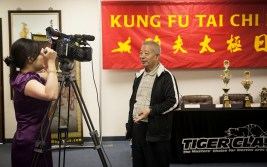 Coach Wu Bin interviewed for Chinese television.
