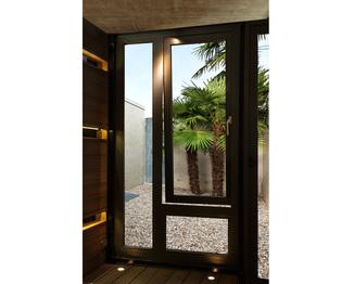 หน้าต่าง อลูมิเนียม บานเปิด ช่องแสง สีดำ