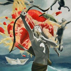 Sündenfall oder die Ursünde als surreales Gemälde von Krešimir Crash Vorich
