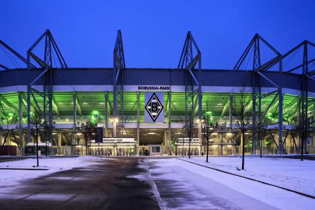 foto kunstdruck stadion borussia park monchengladbach nordrhein westfalen deutschland europa von w otto f1 online auf glossy normal