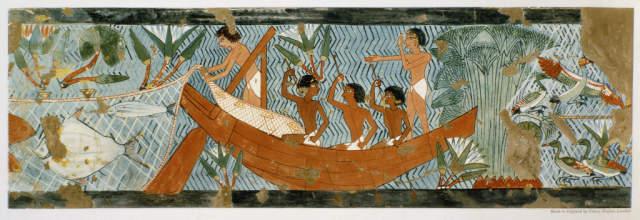Alte Malerei Des Agyptischen Gott Ra Und Des Maat In Einem Grab