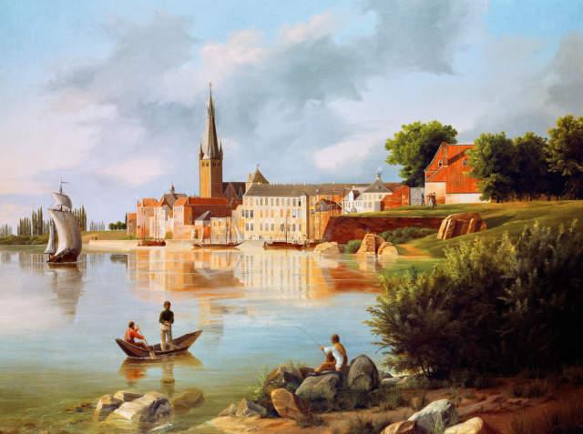 Gustav Lange Mulheim1811 1887 Dusseldorf Klirrende Kalte Ol