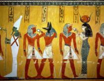 Berlin Deutschland 7 April Agyptische Malereien Auf Der Wand