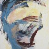 Kopf Blau Gelb, Acryl auf Leinwand 55x74cm