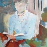 Lesende, Acryl auf Leinwand 60x80cm