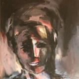 Night-Bird, Acryl auf Leinwand 58x45cm