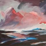 Abendwolken, Acryl auf Leinwand, gerahmt 42x32cm