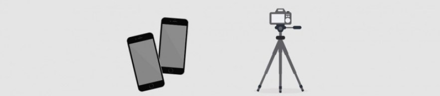Smartphone en camera voor time lapse