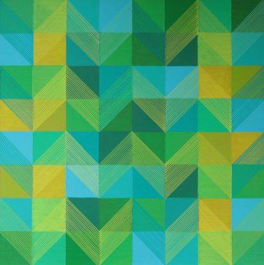 Michael Kirsch - Grün 2 (2018), Acryl auf Malplatte, 70 x 70 cm, 380 x 381 px