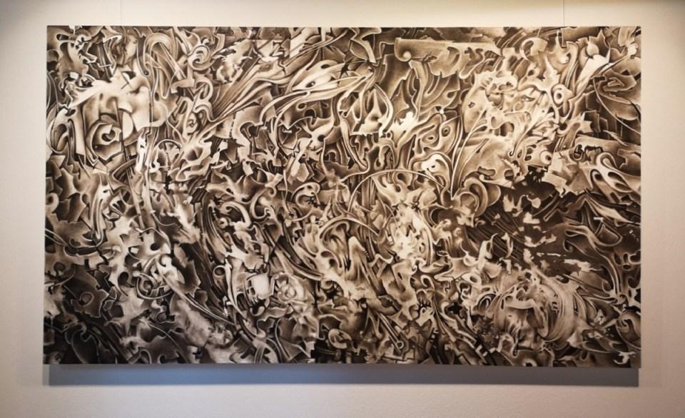 Jörg Mai - Barockes Spektakel II (2019) Öl auf Leinwand 120 x 210 cm