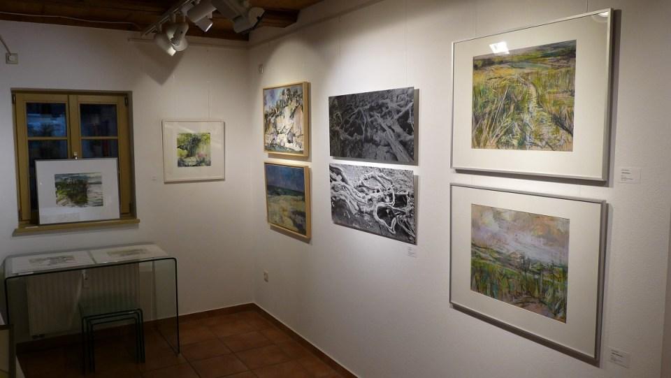 Ausstellung Landschaften vorn links (KunstGalerieHans 2019)