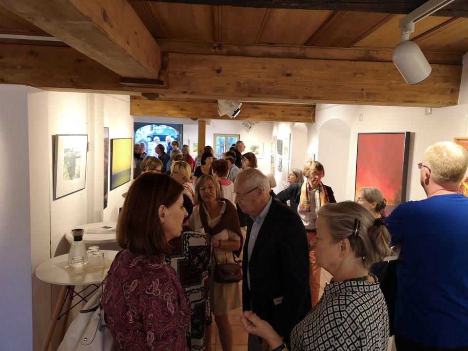 Vernissage Landschaften-Ausstellung in der KunstGalerieHans 2019