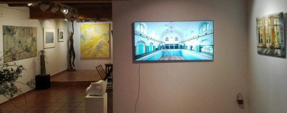 KunstGalerieHans - Blick von vorn in Abschlussausstellung