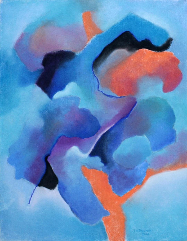 ruimte, 90 x 70, pastel , 2016