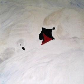 Carla Boomkamp, Geborgenheid, acryl, 80 x 80 cm