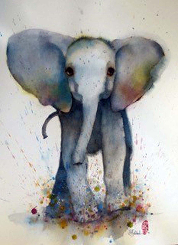 L'Elephant ( de olifant), 72 x 52 cm
