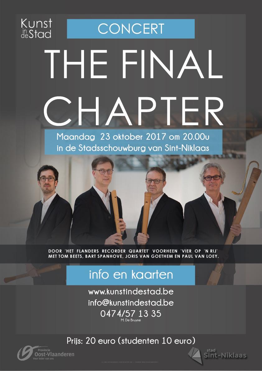 CONCERT: The Final Chapter door door  'Het  Flanders  Recorder  Quartet'  voorheen  'Vier  op  'n Rij'
