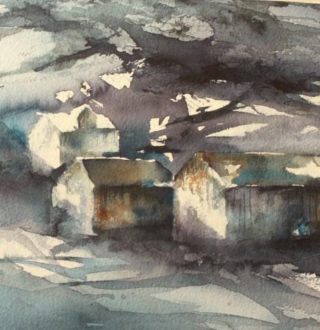 Between the houses by Elin Rindahl Steiro