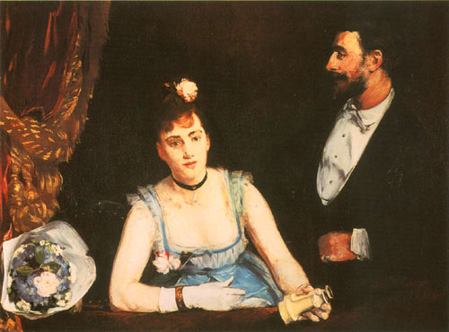 Eva Gonzalès, A Box at the Théâtre des Italiens, 1874