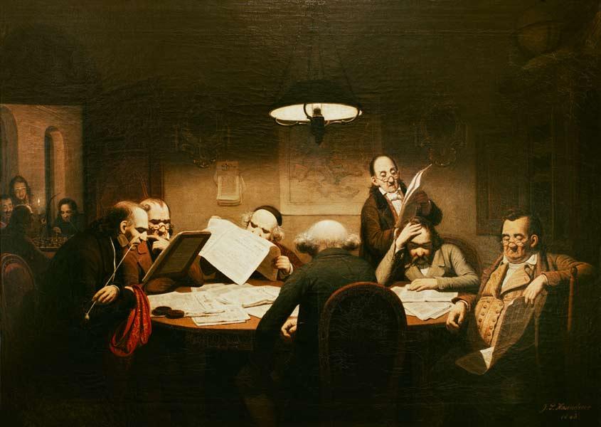 Das Lesekabinett (1843), Johann Peter Hasenclever