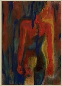 Leinwand Kunst Moderne Abstrakte Madchen Wieder Kunst Aktmalerei