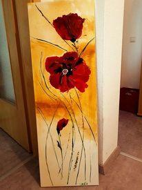 Gertrud Schweser Calla Ii Fertig Bild 20x50 Wandbild Blumen