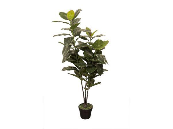 HTT Decorations - Kunstplant Ficus elastica (130x50 cm) - Kunstplantshop.nl