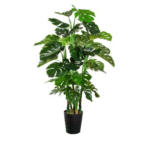 HTT Decorations - Kunstplant Monstera XXL H140cm - kunstplantshop.nl
