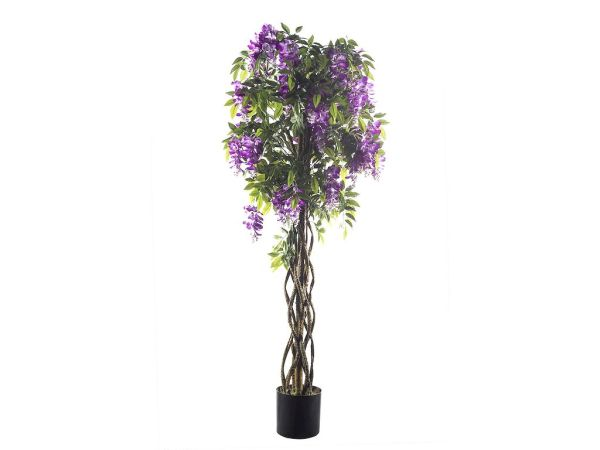 HTT Decorations - Kunstplant Wisteria 165 cm hoog 50 cm breed - Kunstplantshop.nl