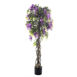 HTT Decorations - Kunstplant Wisteria 165 cm hoog 50 cm breed - Kunstplantshop.nl