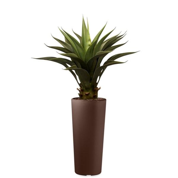 HTT - Kunstplant Agave vetplant in Clou rond bruin H105 cm - kunstplantshop.nl