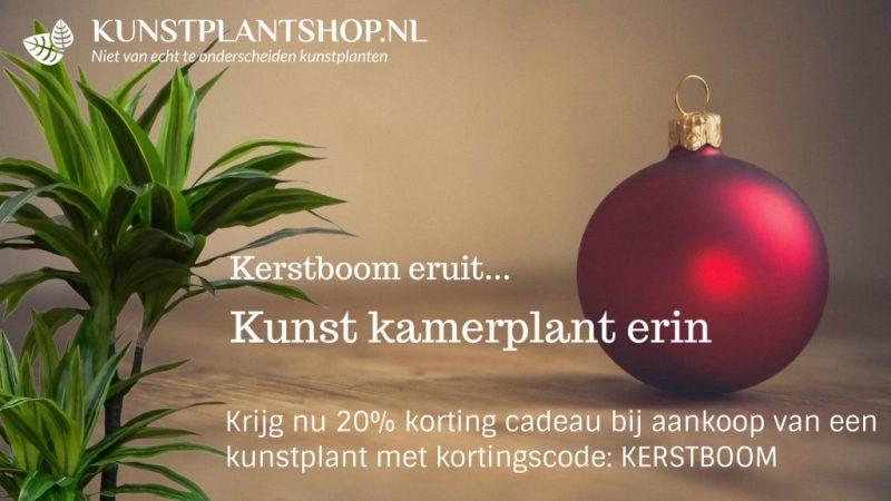 Kerstboom eruit kortingsactie - Kunstplantshop.nl