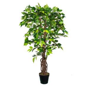 HTT Decorations - Kunstplant Ficus Groen H125cm - Kunstplantshop.nl