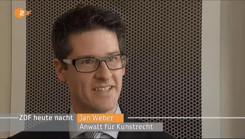 Jan Weber Kunstrechtsanwalt im ZDF