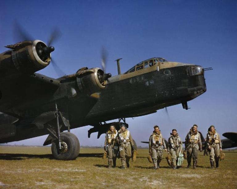 EF 357.Short Stirling_Mk I of No. 1651 Heavy Conversion Unit at Waterbeach in Cambridgeshire - 1942