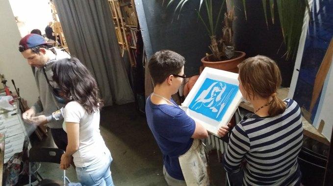 Siebdruck-Workshop Maxim